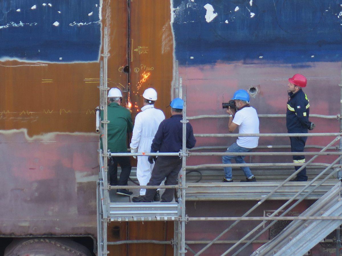 John Delaney helms the Windstar ship stretching