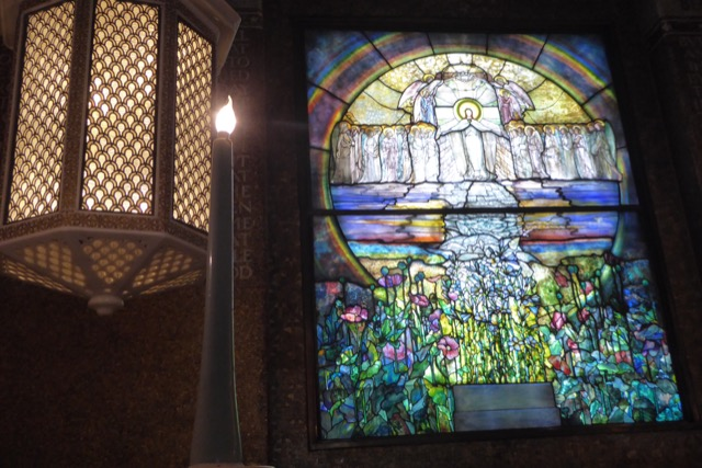 Tiffany windows from Cleveland's Lake View Cemetery