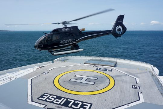 Helicopters aboard Scenic Eclipse