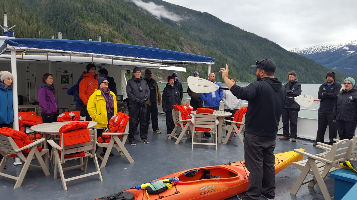 Kayaking lessons in Alaska
