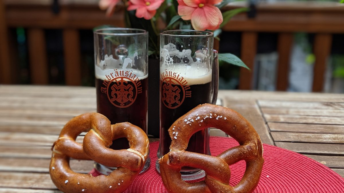 beer and pretzels in Europe