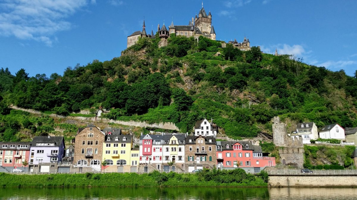 Cochem Castle on a river cruise