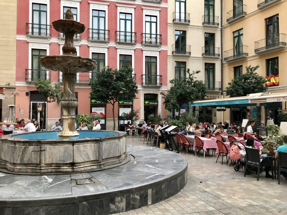 Malaga Spain plaza