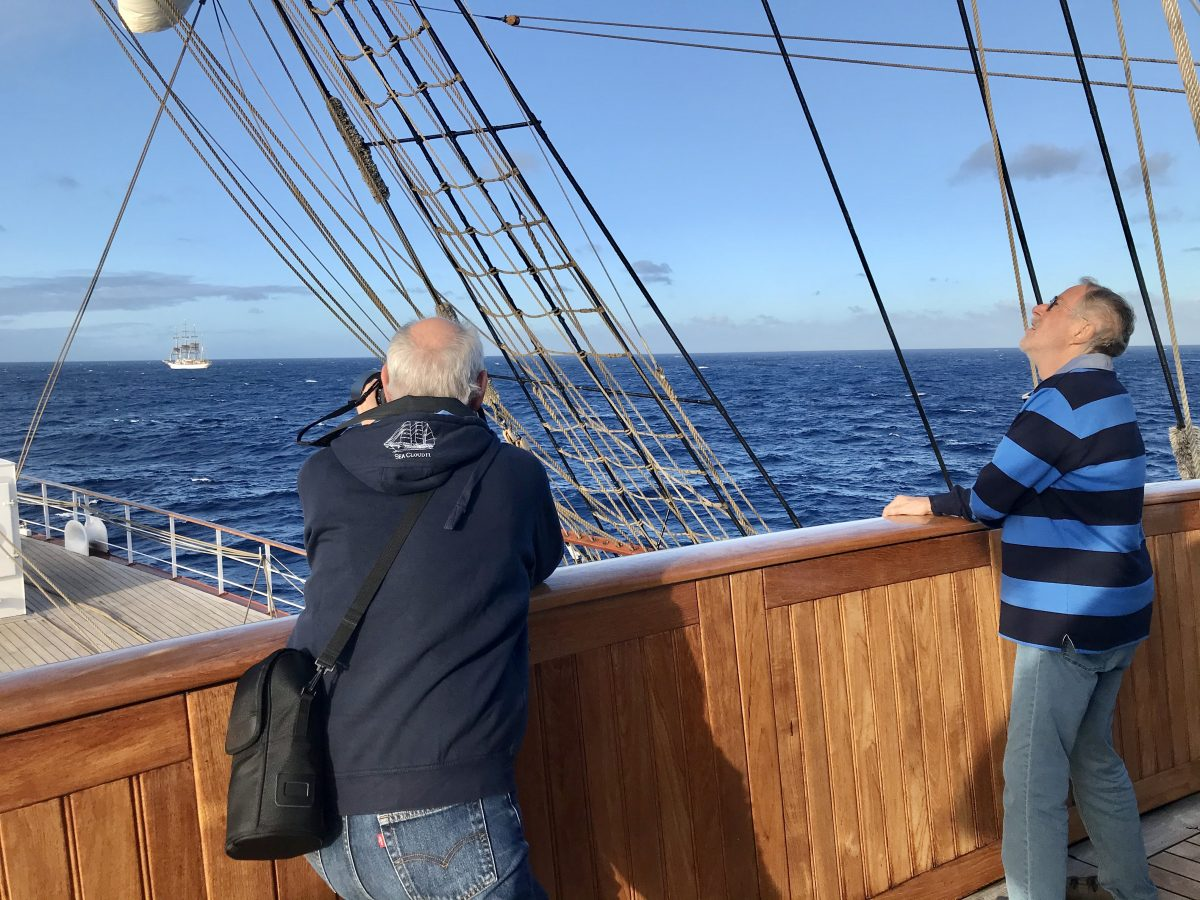 The Sea Cloud sisters sailing together