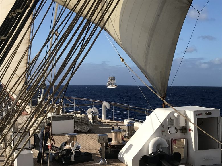 Both Sea Cloud ships sailing