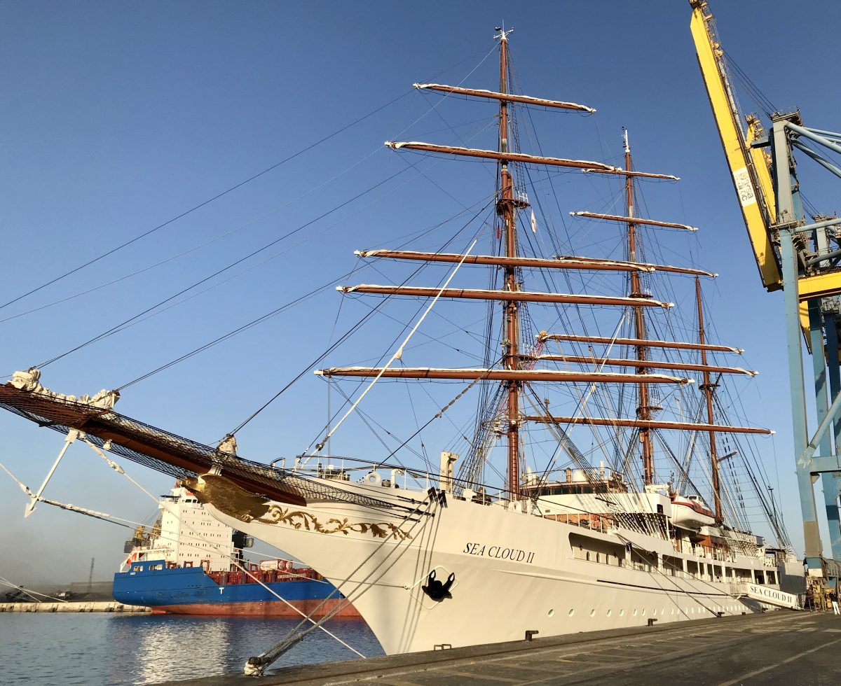 The Sea Cloud II on a Canary Islands cruise