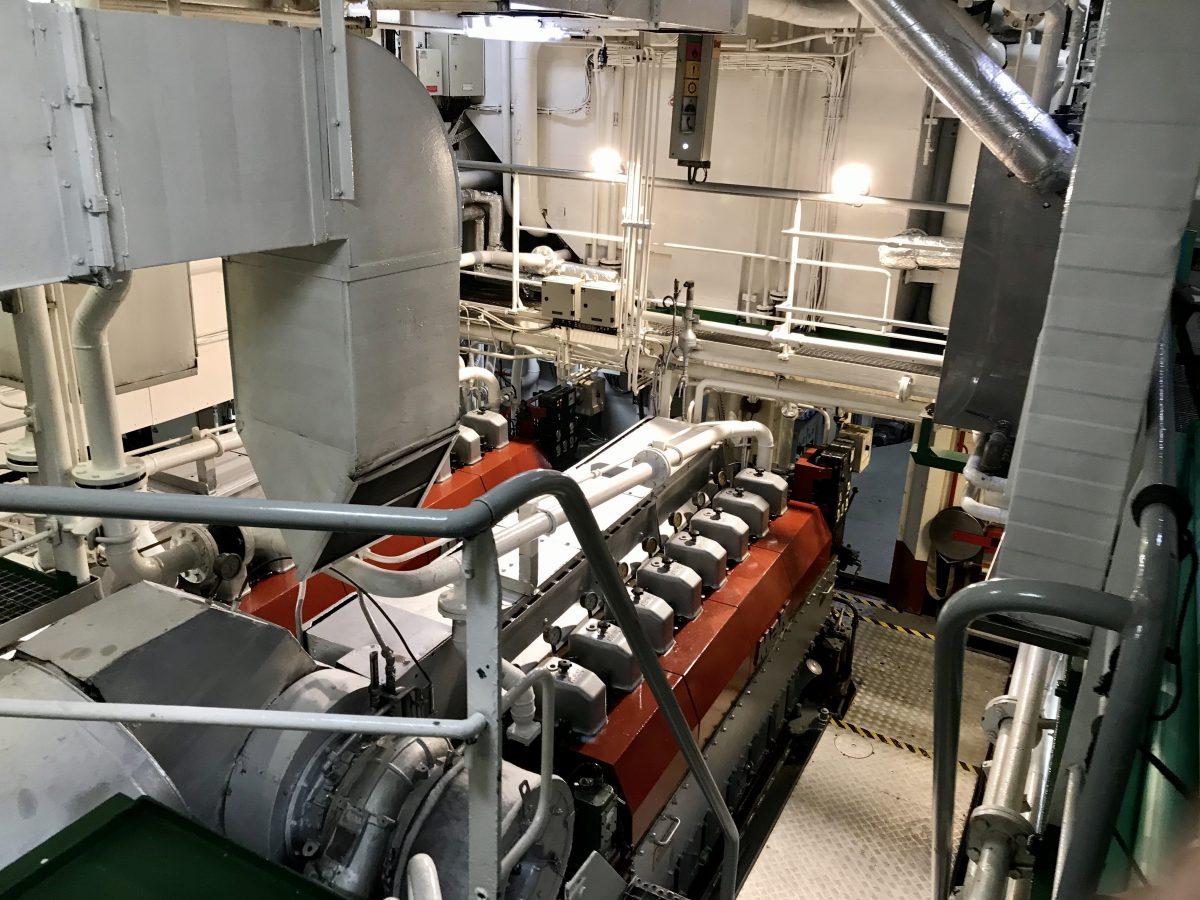 engine room of Sea Cloud II