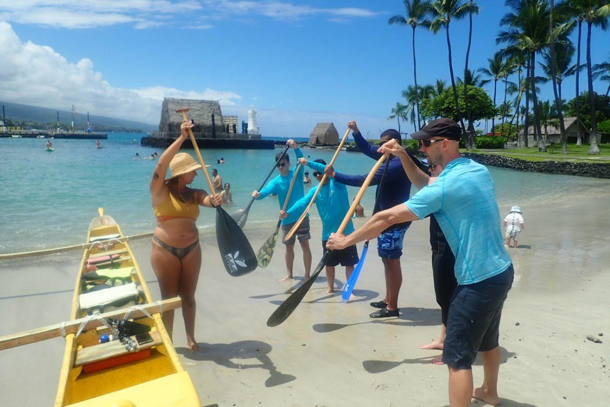 Hawaii cruise wooden canoe