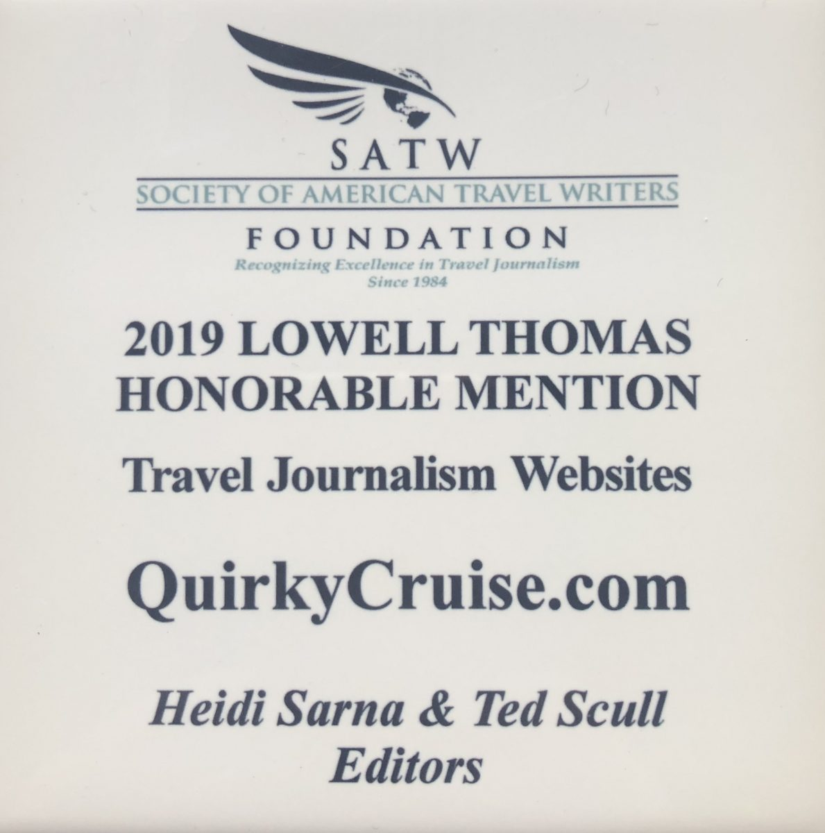 Lowell Thomas Award