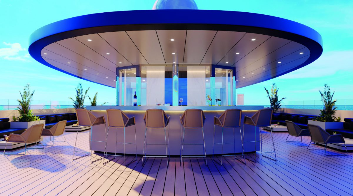 top deck Sky bar on Emerald Azzurra