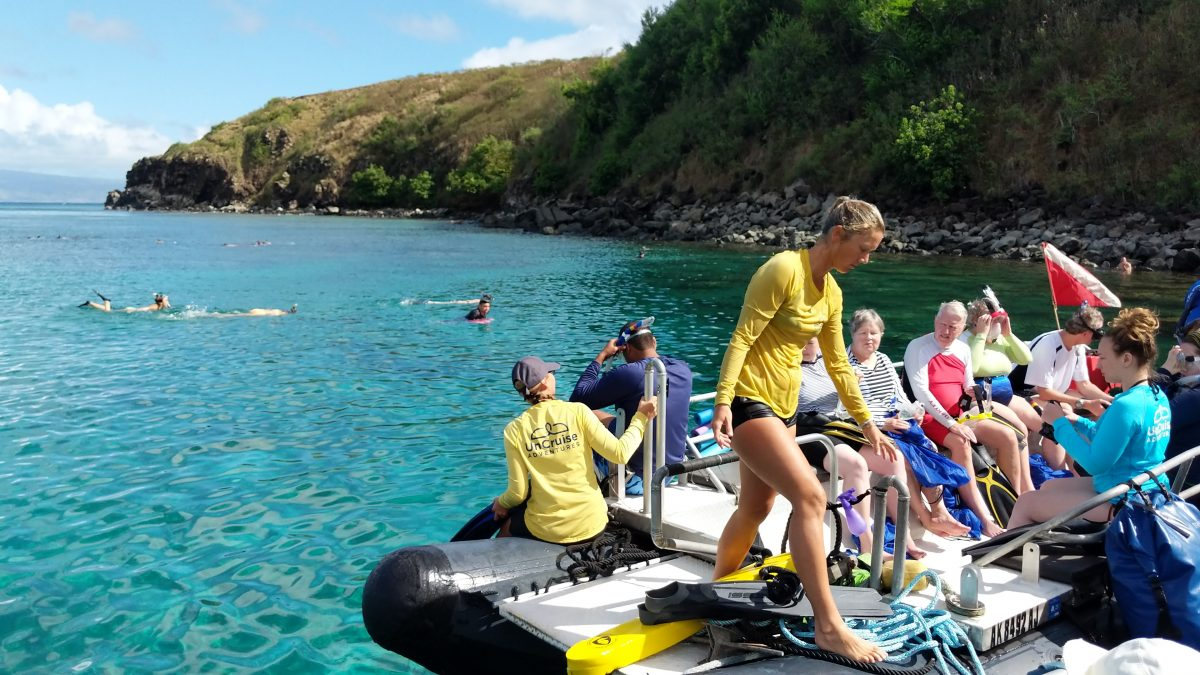 snorkeling on an Hawaii cruise