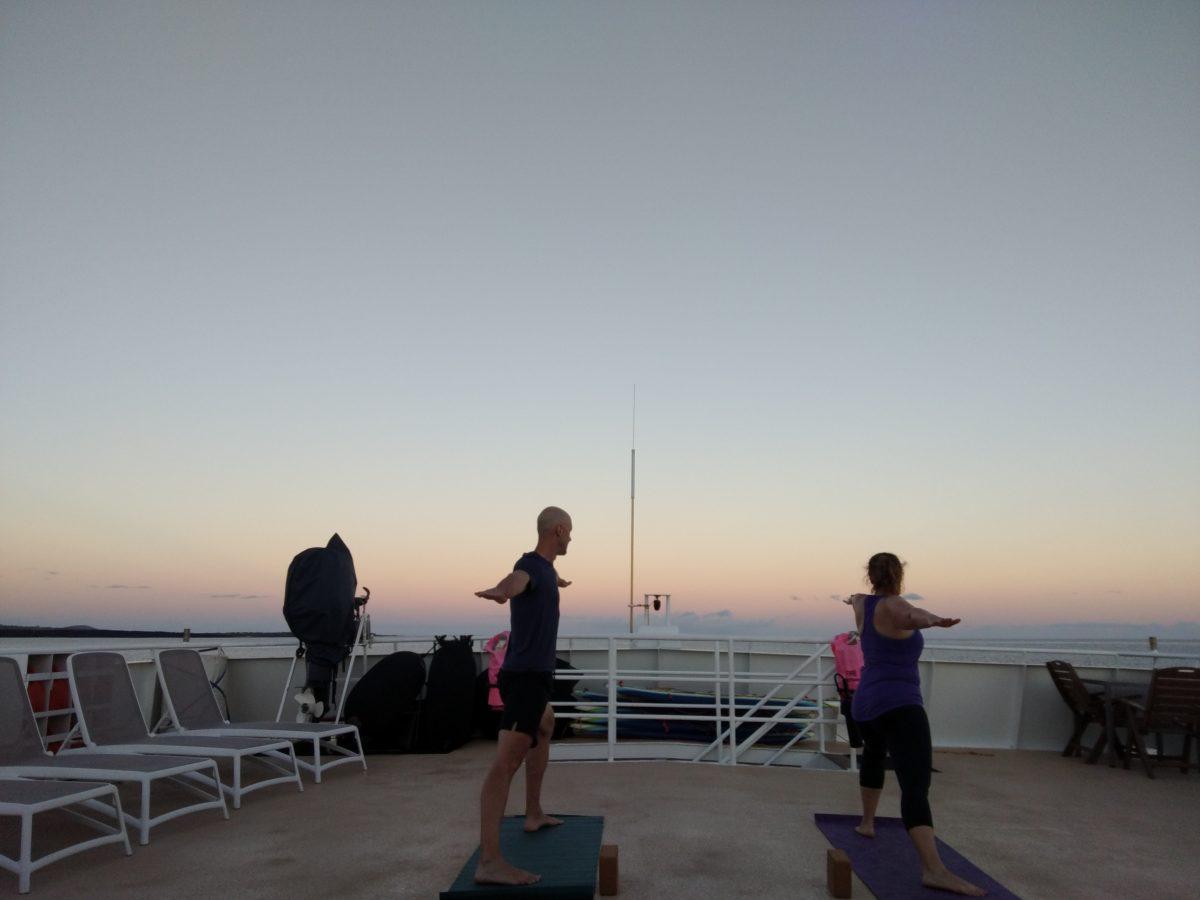 Hawaii cruise top deck