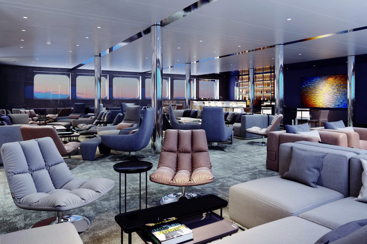 Emerald Yacht Cruises lounge