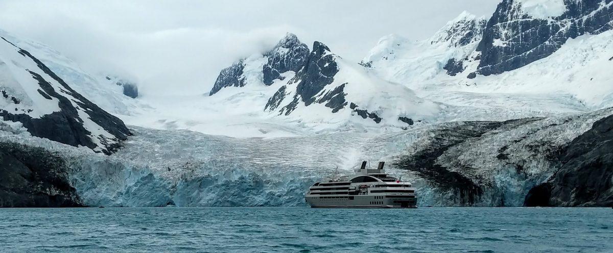Le Lyrial in Drygalski Fjord
