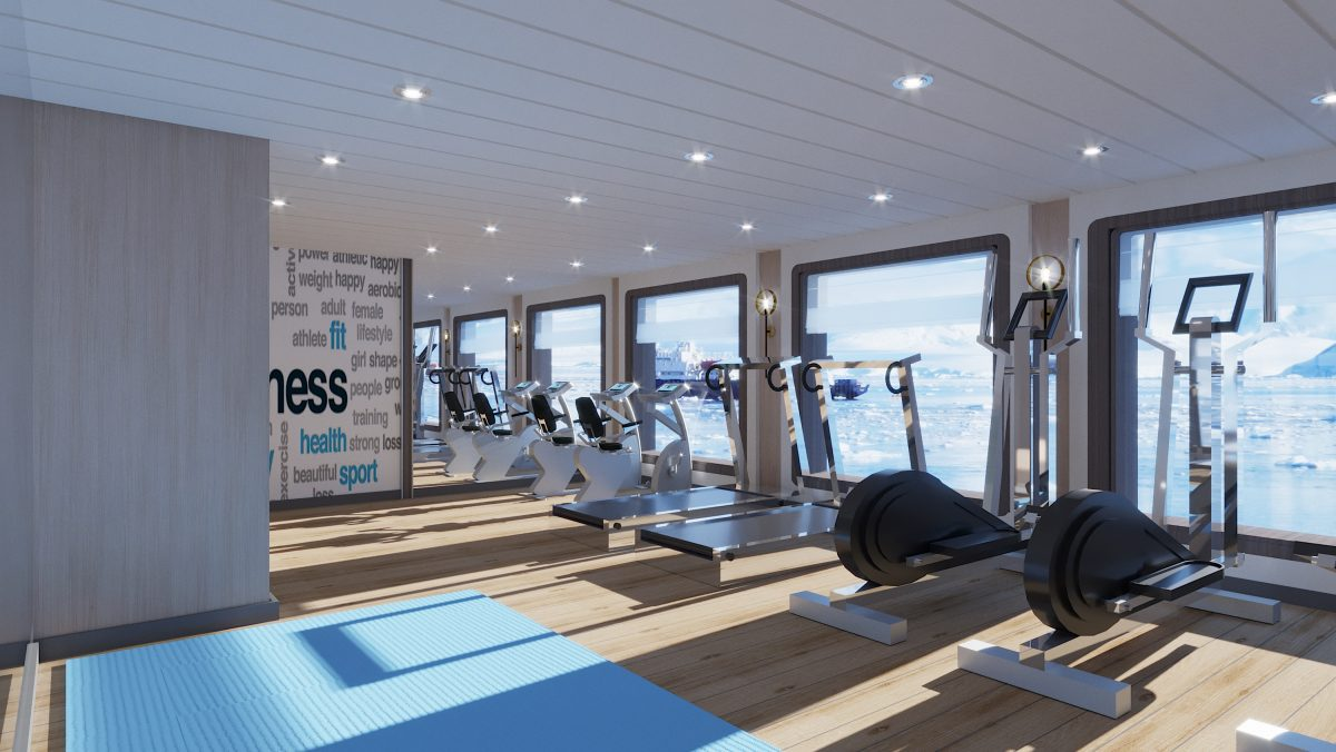 gym on Ocean Victory in Alaska