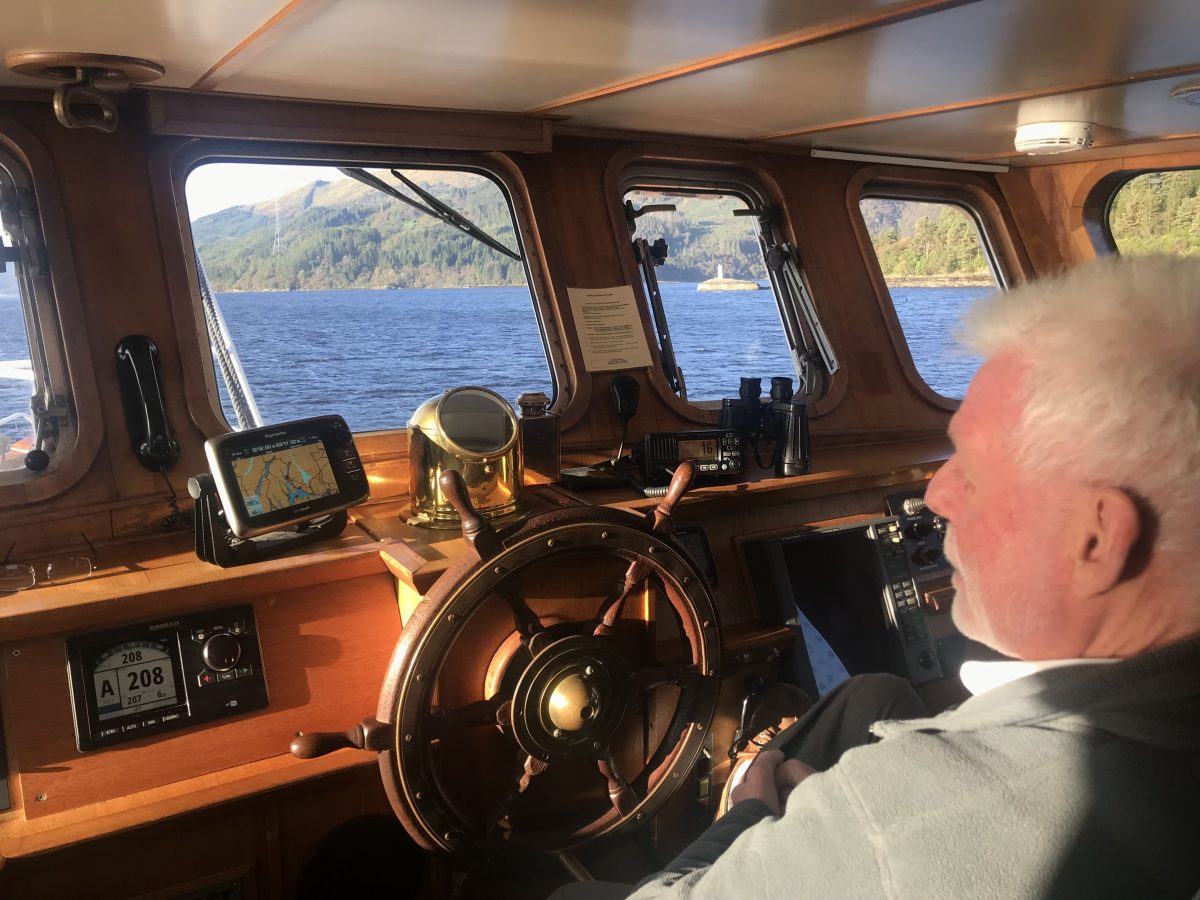 Captain Iain Duncan on a Scottish cruise
