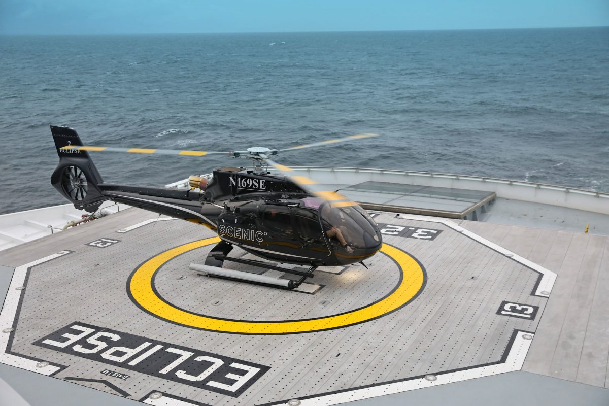 Scenic Eclipse helicopters