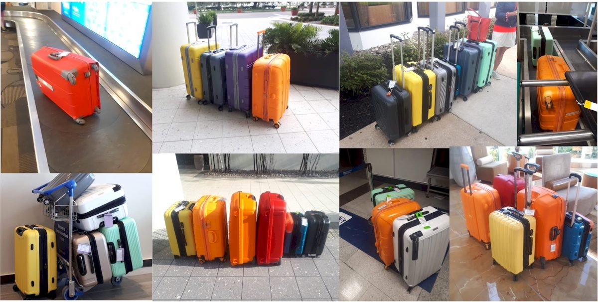 lots of colorful luggage
