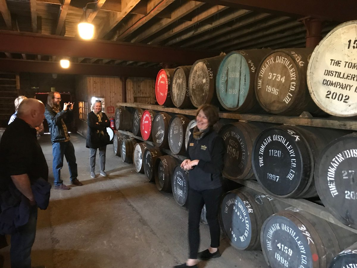 A visit to Tomatin Distillery on a Spirit of Scotland cruise