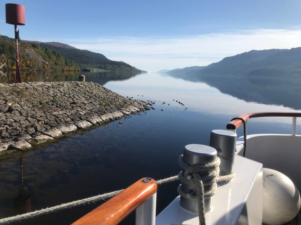 Cruising into Loch Ness on Spirit of Scotland