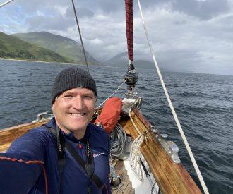 Scottish cruising on the Red Moon selfie