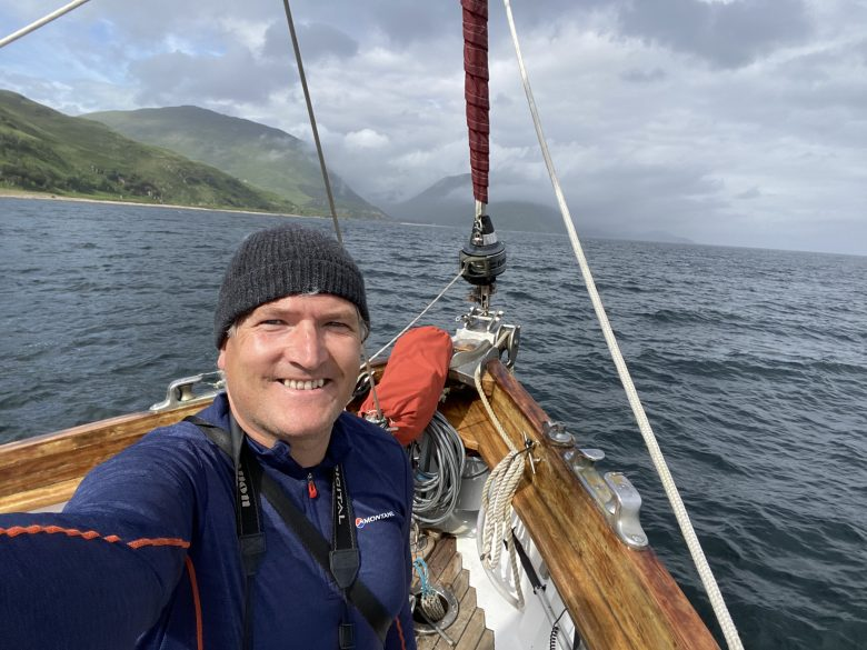 Scottish cruising on the Red Moon selfie