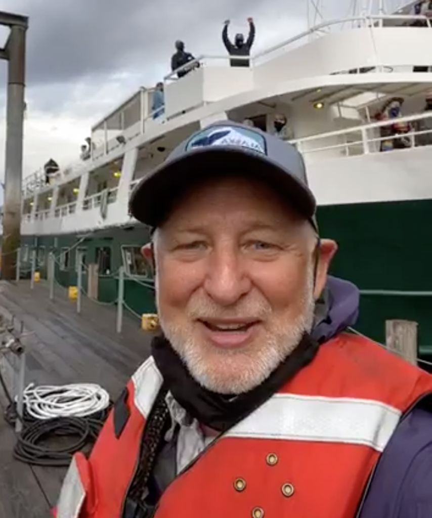 UnCruise CEO Dan Blanchard before COVID-19 on UnCruise