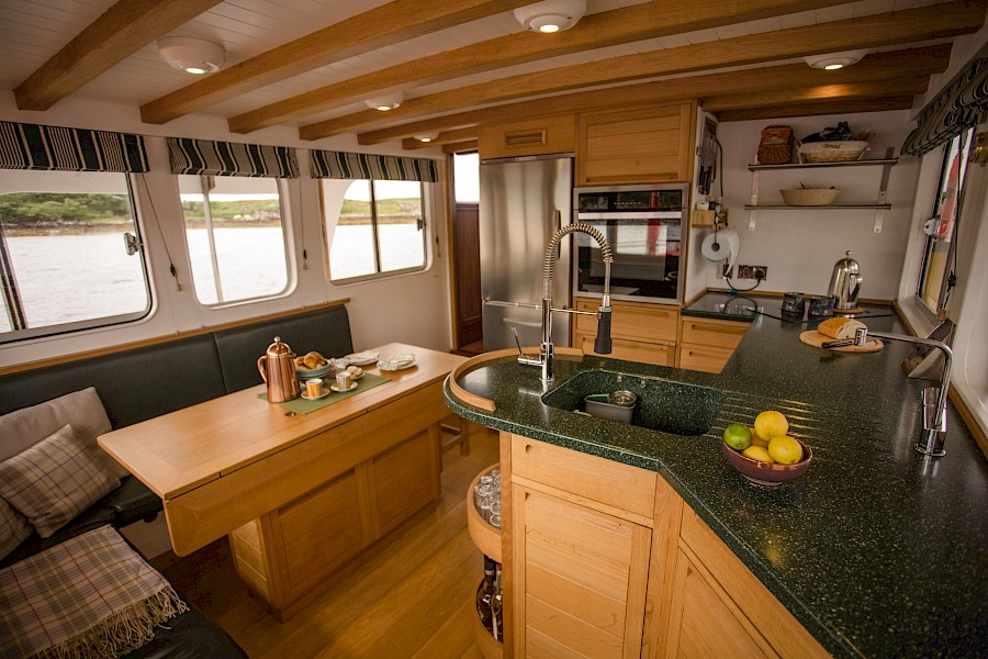 galley and dining table