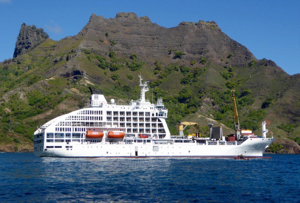 ARANUI Cruises stop at Puamau.