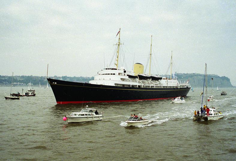 Britannia departs Cardif