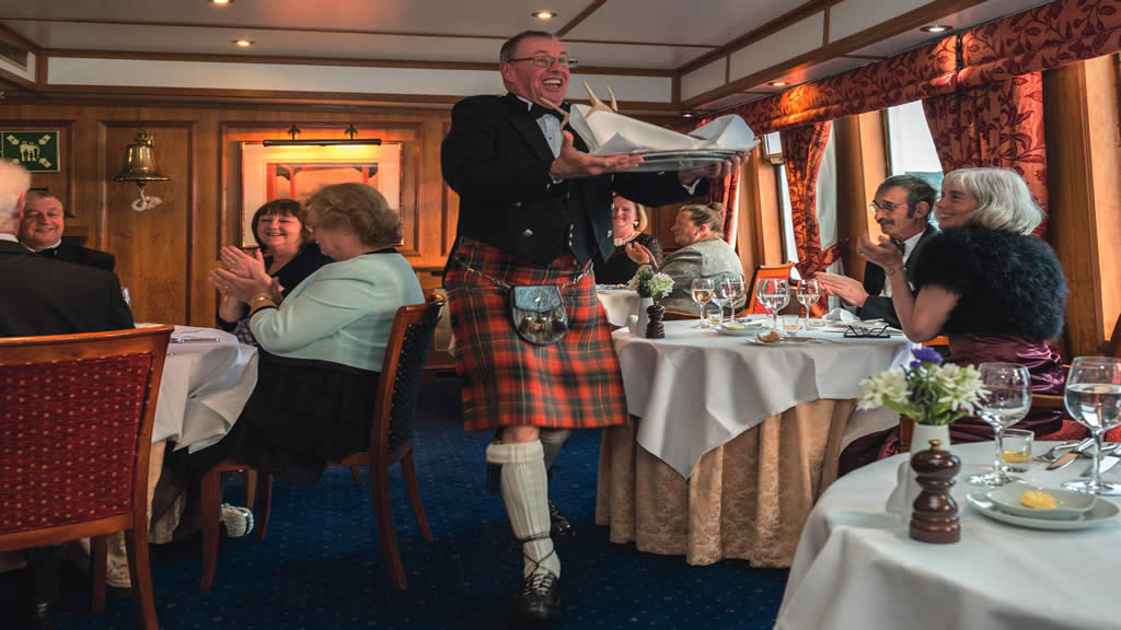 Hebridean Princess dining room
