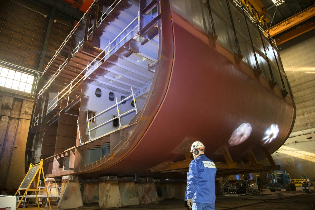 SH Minerva's keel