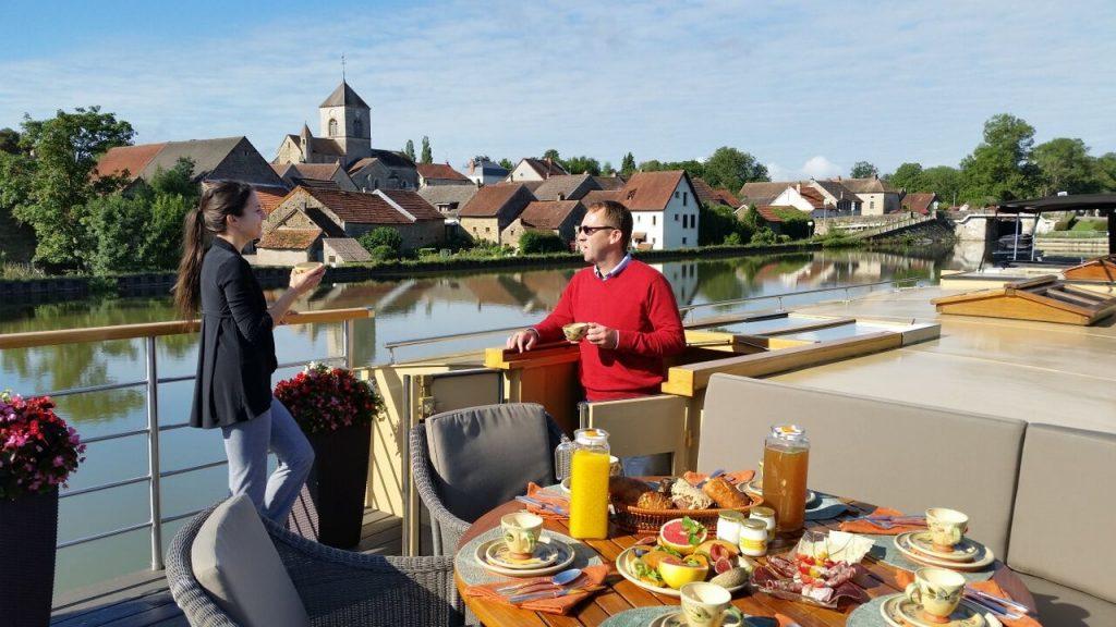 Abercrombie & Kent barge breakfast