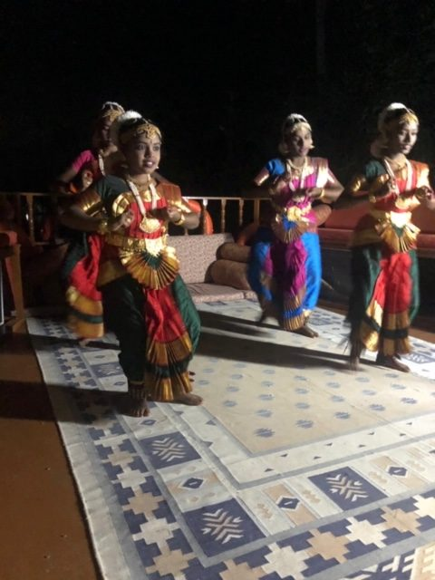 dance performance by a troupe of local girls
