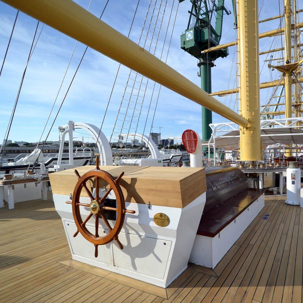 Tradewind Voyage ships wheel