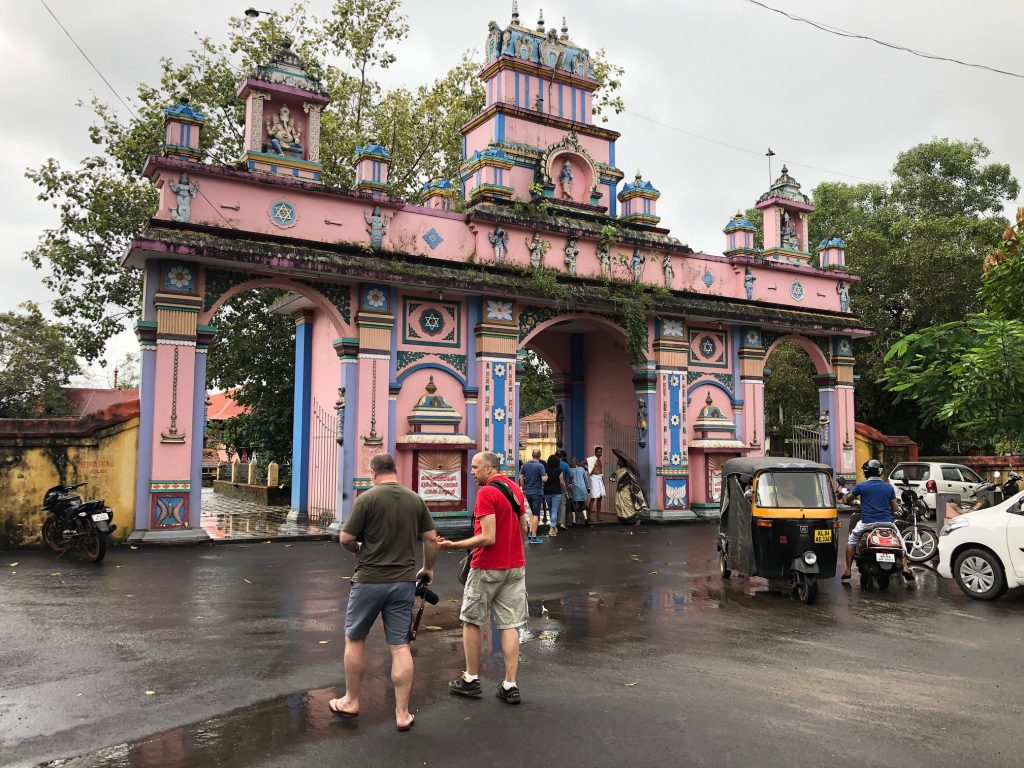 Pink temple in Kerala