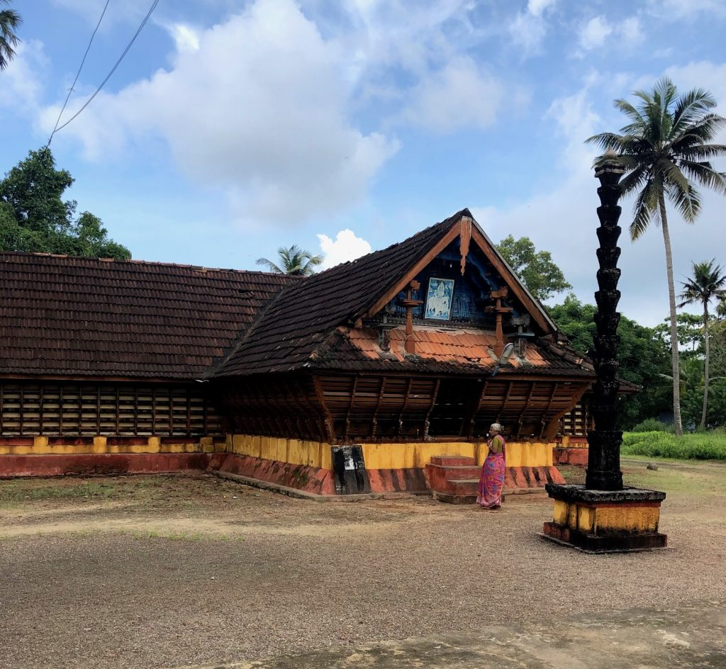Typical village temple in Kerala Backwaters