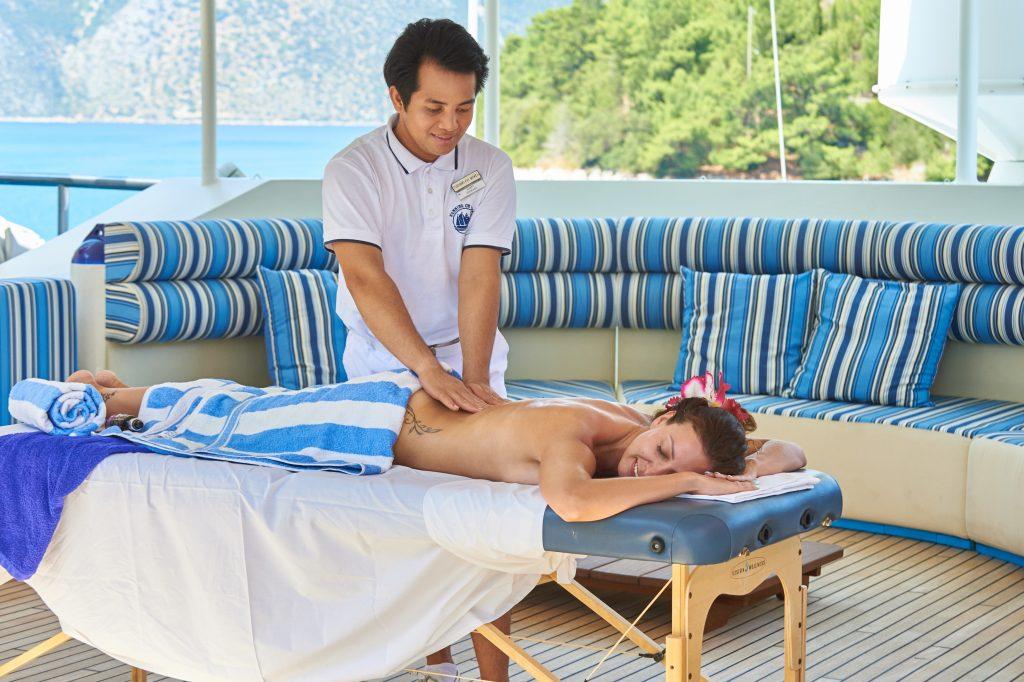 Massages on deck