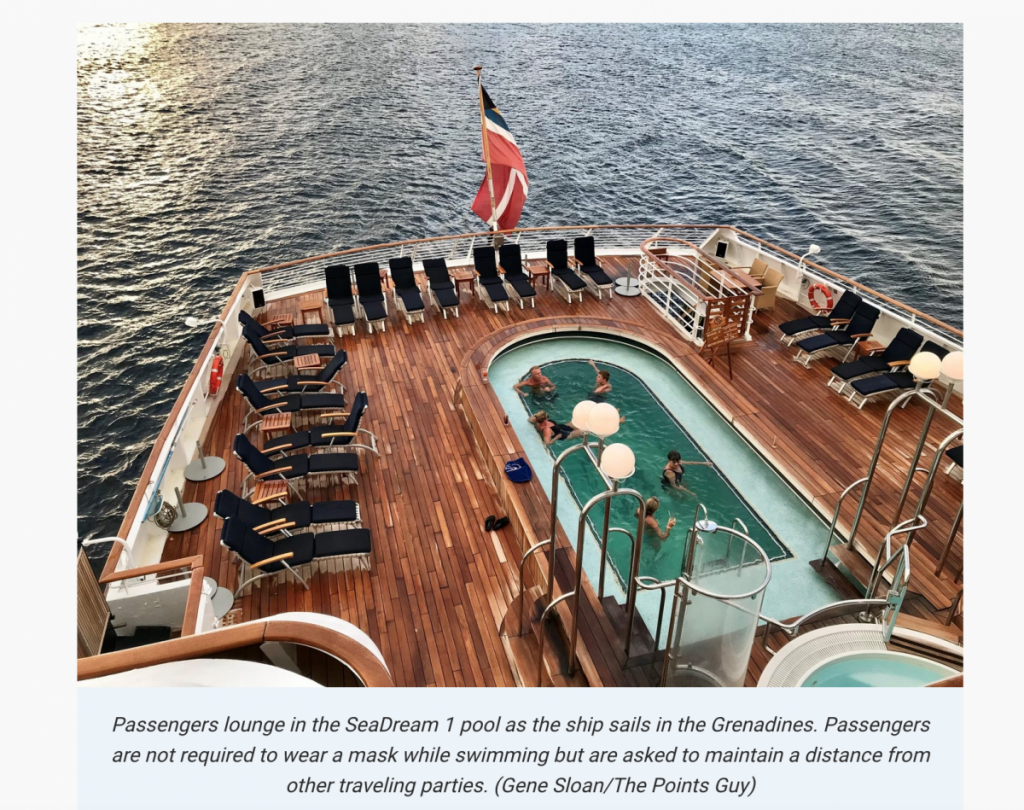 Gene Sloan TPG article about his Caribbean cruise aboard SeaDream I