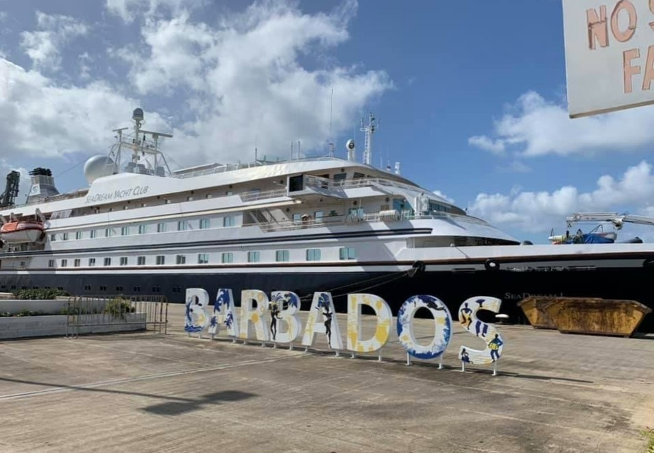 SeaDream I in Barbados for a Caribbean Cruise