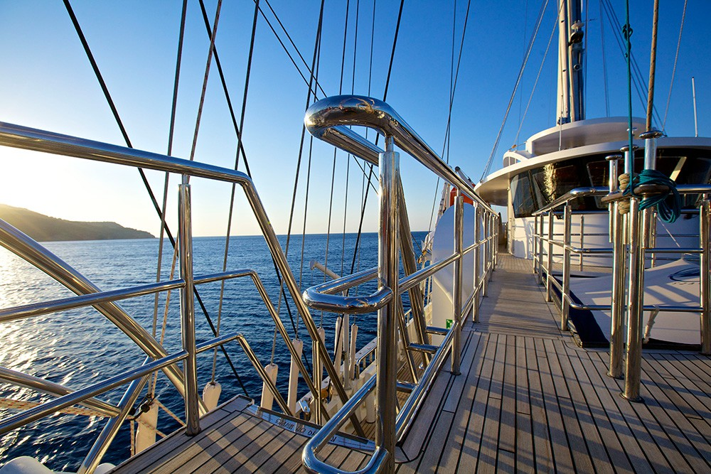 top deck at sunset